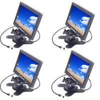 Lot 4 Tft Lcd 7 Digital Color Auto Car Rearview Headrest Monitor Dvd Camera Vcr