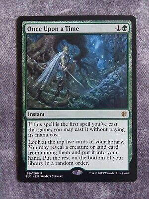 4 ONCE UPON A TIME ~mtg NM-M Throne of Eldraine Rare x4
