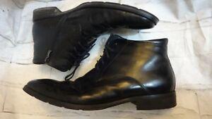 Von morke d'hiver en cuir Homme Noir Bottes Chaussures Taille 45EU UK 10.5 Di