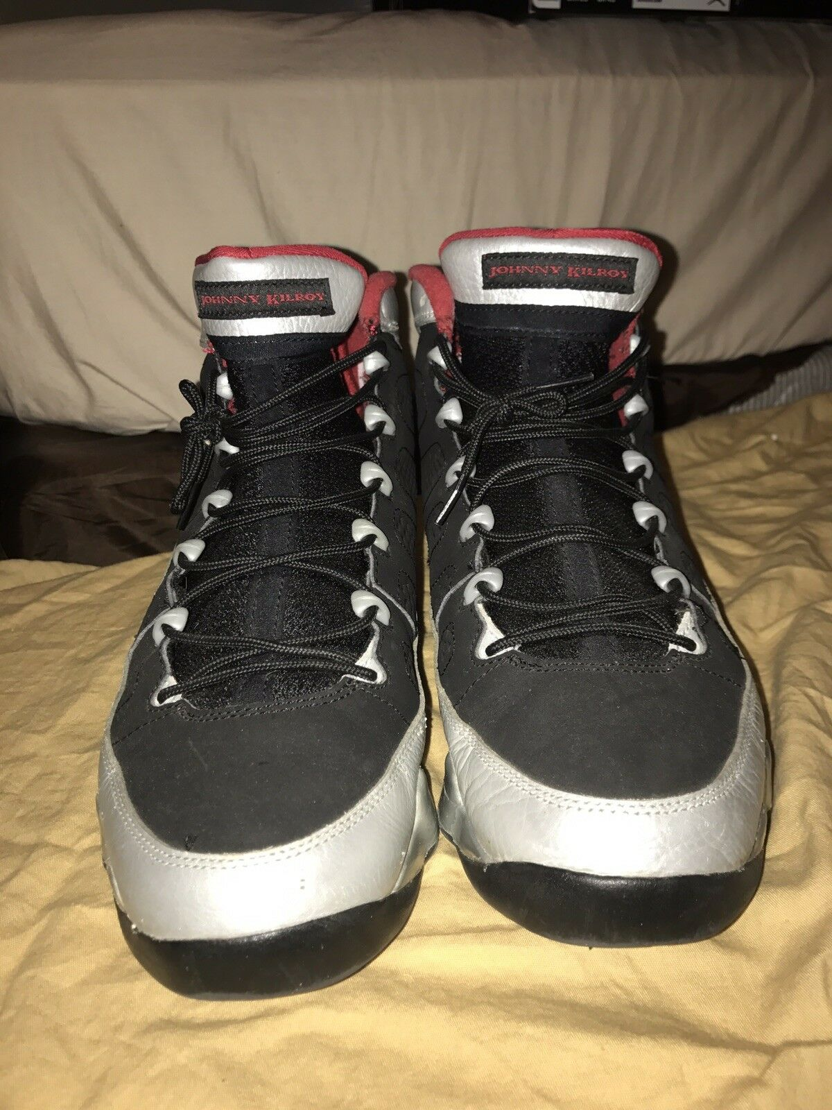Nike Air Jordan 9 Retro Kilroy Black Red 302370-012 Size 10.5