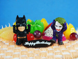 DC Comics Universe Dark Knight BATMAN JOKER SCARECROW Cake Topper Figure Model