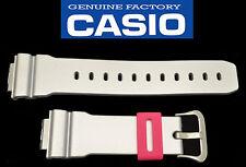 Casio ORIGINAL watch band G-Shock silver shiny strap 16mm  Rubber DW-6900CB-8V