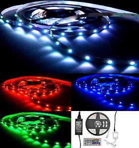 LED-Strip-1m-10m-LED-Leiste-Streifen-Set-RGB-SMD5050-30-amp-60-LEDs-Meter
