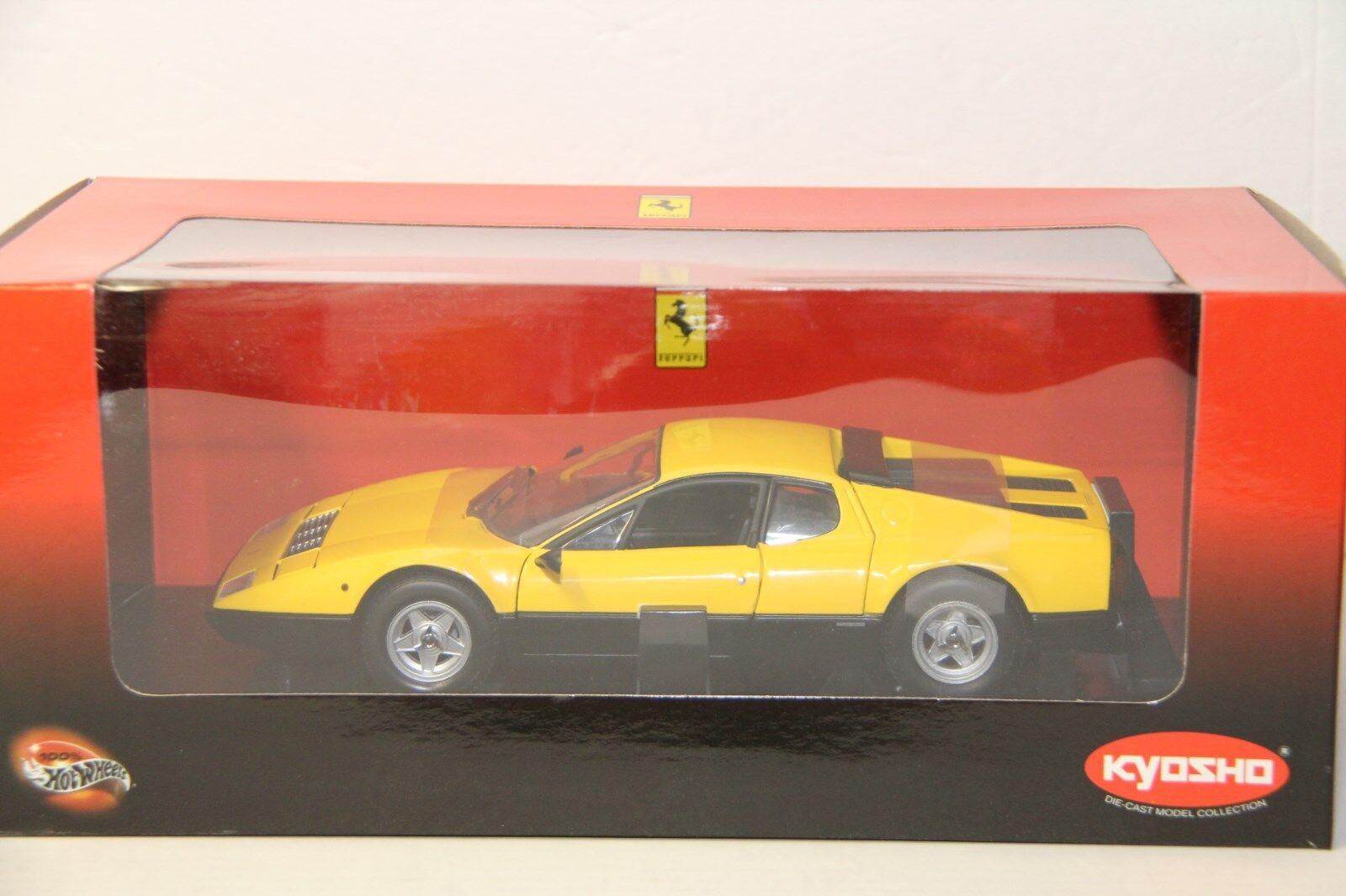 1/18 Kyosho Ferrari 365GT4/BB, Nuevo, 08173Y, Amarillo
