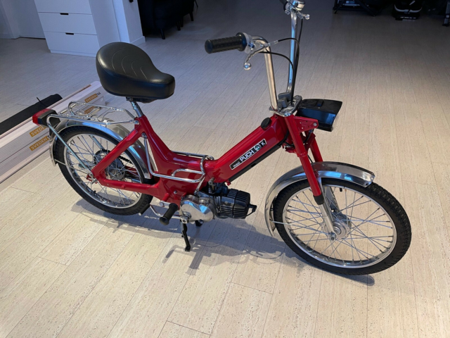 Puch Maxi K, 1973, 300 km, Rød, Totalrenoveret Maxi K for 4…
