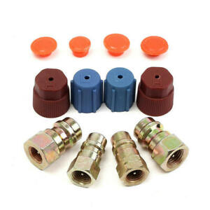 A-C-R12-to-R134a-Low-High-Side-Retrofit-Conversion-Adapter-Fitting-Cap-Valve-Kit