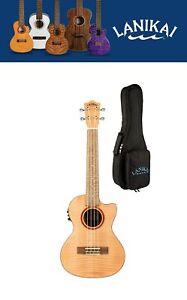 Lanikai Flame Maple Tenor Acoustic/Electric Ukulele +Free Bag! Authorized Dealer