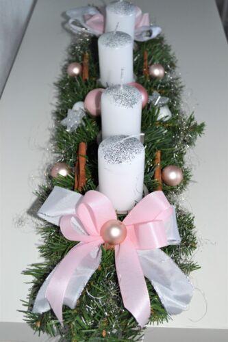 Excl Couronnes Rose Blanc 60 cm artificiellement Noël Advent Orchidée DECO
