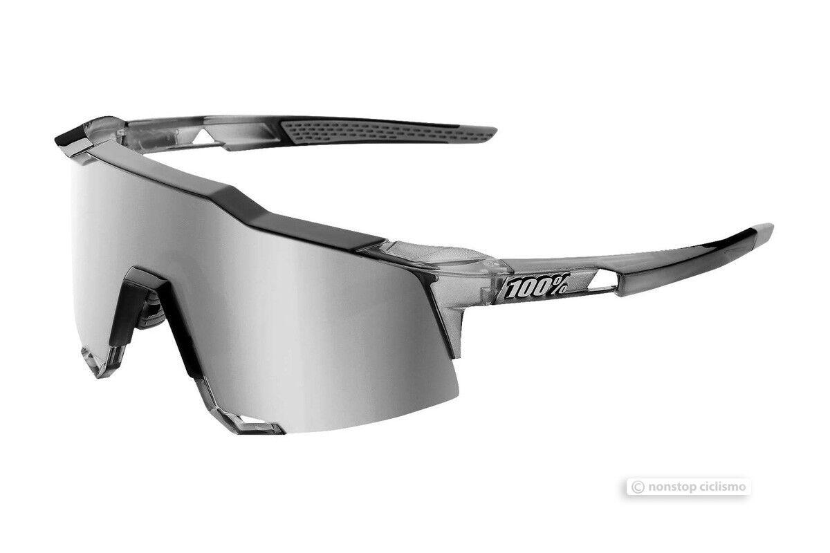 100% Speedcraft Radsport UV Sonnenbrille Durchscheinend Grau Silber Spiegel    Elegante und robuste Verpackung