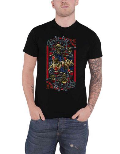 Anthrax T Shirt Evil King World Tour 2018 Band Logo new Official Mens Black