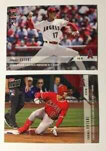 2X SHOHEI OHTANI RC LOT 2018 Topps Now TWO New Rookie Cards Mint #53 & 72 BV$ 📈