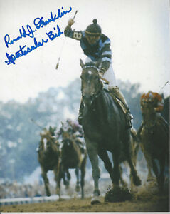 Ronald Franklin autographed 8x10 up close  photo riding Spectacular Bid added