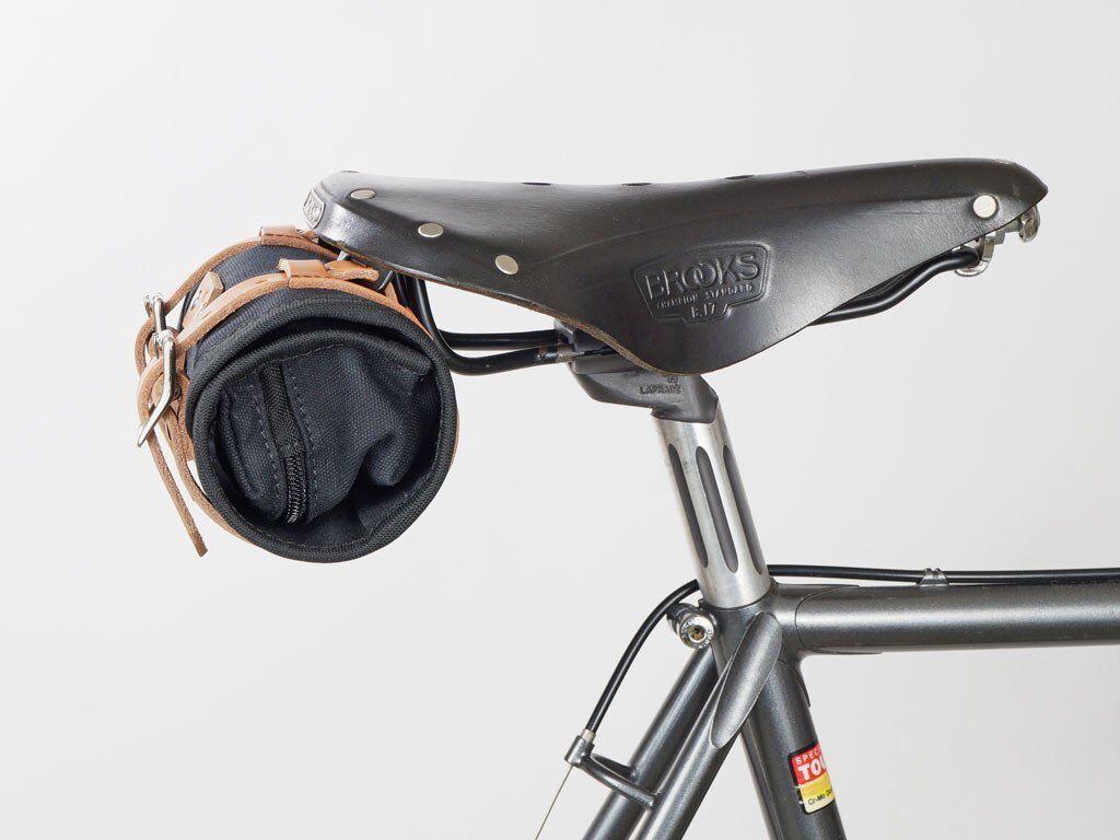 ad5351c8d2e417 ... Cicli-Franconi Satteltasche Saddle Bag Canvas Leder Fahrradtasche  Fahrradtasche Fahrradtasche retro schwarz d28619 ...