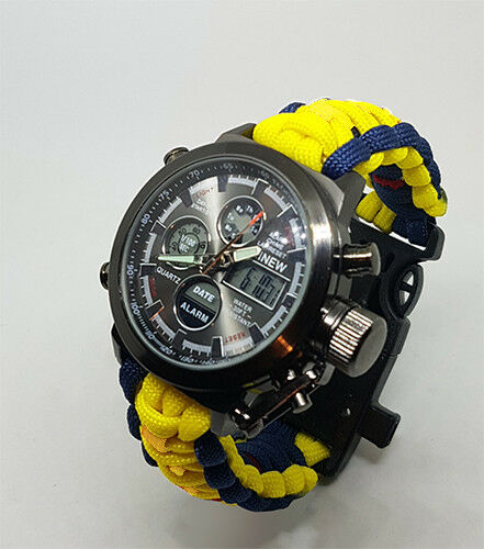 Paracord Watch in The HM Coastguard Colours For The Strap Water Resistant