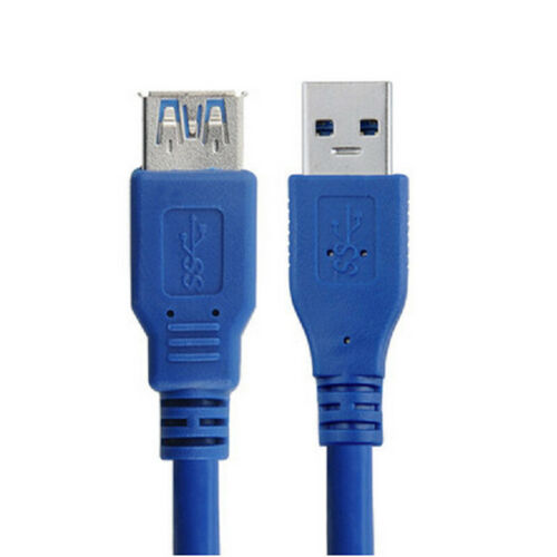 10Ft USB 3.0 A Male TO A Female Extension Cable Super Speed Blue Color Cord FMES
