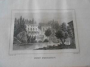 Gravure-sur-acier-1838-Les-Deux-Sevres-Fort-Foucault