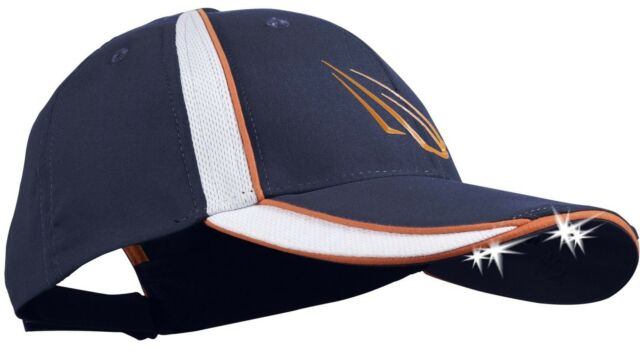 Panther Vision 4-LED POWER CAP Brushed & Washed Cotton Twill NAVY/ORANGE/WHITE