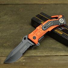 "Tac Force 8"" EMT Spring Assisted Open Tactical Rescue Emergency Folding Knife"