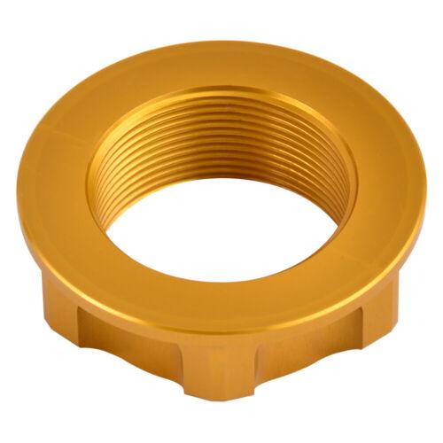 CNC Billet Steering Stem Nut For Suzuki RMZ250 RMZ450 2005 2006 2007-2018 Gold