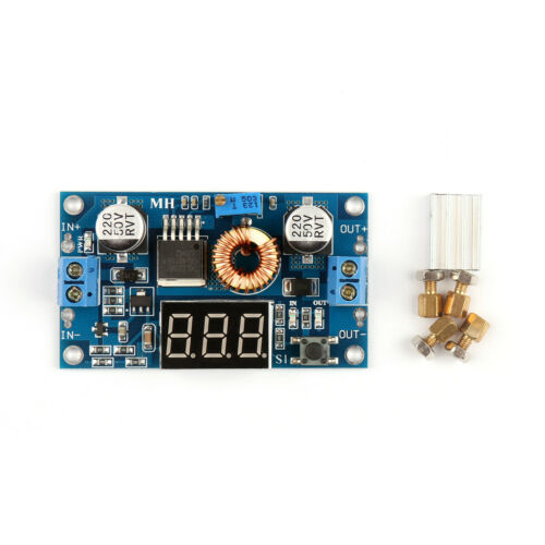 XL4015 5A 75W Adjustable DC-DC Boost Step Down Power Supply Voltmeter Modul GE