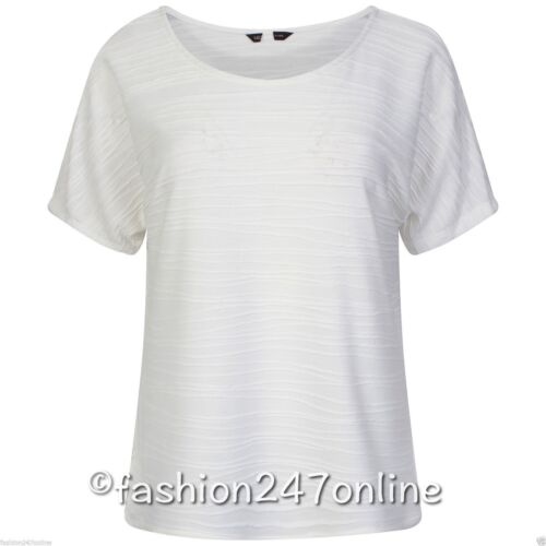 Ladies Ex M/&S Collection Cream Raised Stripe T-Shirt Sale Now Only £5.99 Ws£9