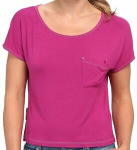 UGG-Sleepwear-Women-039-s-Ella-Short-Sleeve-Soft-Knot-Top-Scoop-Victorian-Pink-Small