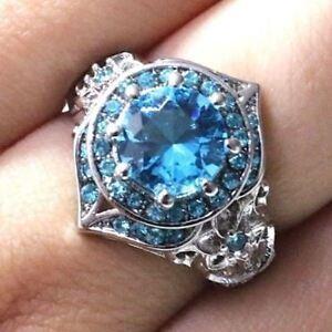 2-Ct-Round-Aquamarine-Ring-Women-Wedding-Jewelry-Gift-14K-White-Gold-Plated