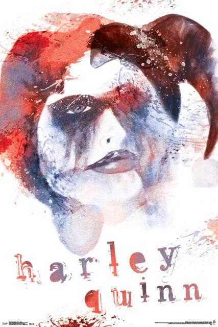 Harley Quinn Skull Comic Book Art Print Poster 24x36
