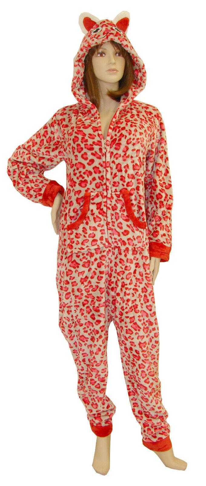 SEXY Pigiama ORSO peluche Tuta Tutina intera women Unisex costume Macolato red