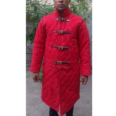 Medieval Gambeson Aketon Jacket Thick Padded SCA LARP Costume Dress Coat