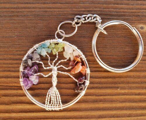 7 CHAKRA TREE OF LIFE KEYCHAIN ONE