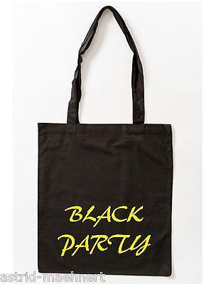 Baumwolltasche - BLACK PARTY - Jutebeutel - Stofftasche