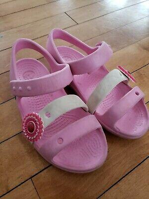 Girls Crocs Hook and Loop Fastening Summer Sandals Keeley