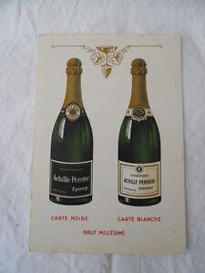 2 Ancienne Carte De Visite Representant Champagne