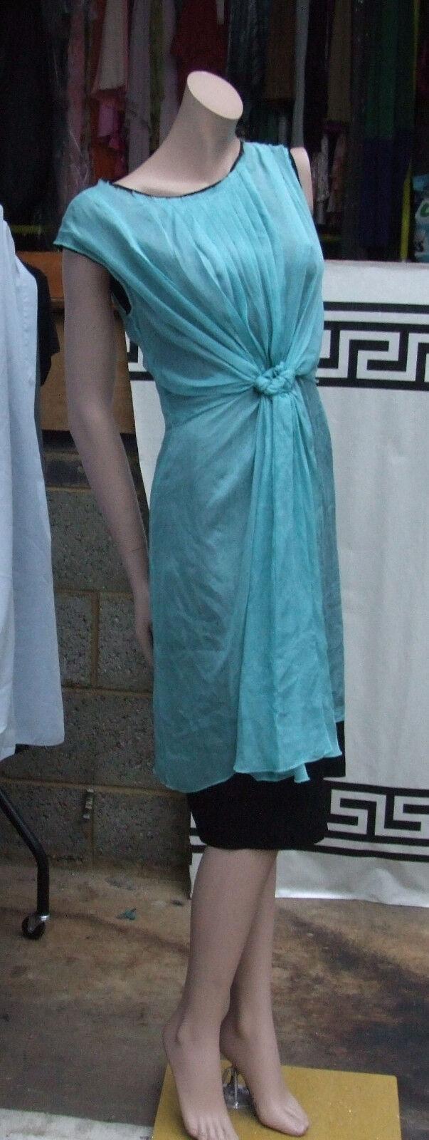 Designer PHILOSOPHY di Alberta Ferretti splendido Menta verde 100% Seta Abito