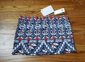 NWT Tory Burch Swim Skirt Cover Up Poppy Acoma XS, missing draw string