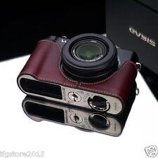 New GARIZ Panasonic LX7 Leather Half Case Brown For Panasonic Lumix DMC-LX7