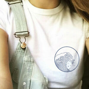 Women-039-s-Japan-Waves-Harajuku-Tee-Blouse-Funny-Casual-Hipster-Top-Cotton-T-Shirt