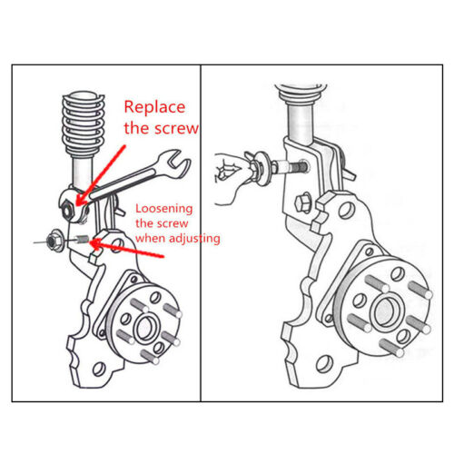 4PCS 14mm Steel Car Wheel Alignment Adjustable Camber Bolts 10.9 Intensity Handy