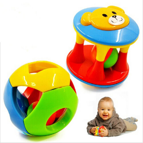 New Cute Handbells Musical Developmental Toy Bed Bells Kids Baby Toys Rattle