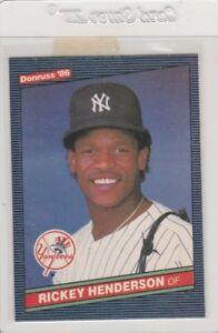 Details About 1986 Donruss Baseball Card 51 Rickey Henderson New York Yankees