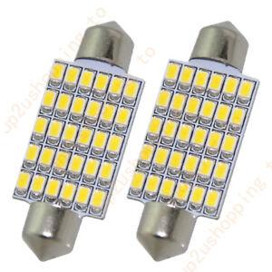2  x 30 SMD Bulb 42mm LED DOME Festoon Reading License Plate Light Warm White