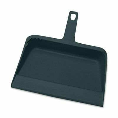 """Genuine Joe Heavy Duty Dust Pan Black Plastic 12/"""" Wide GJO02406"""