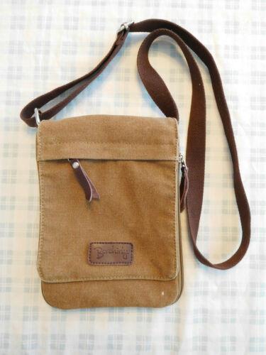 Berchirly Brown Tan Canvas Crossbody Shoulder Bag… - image 1