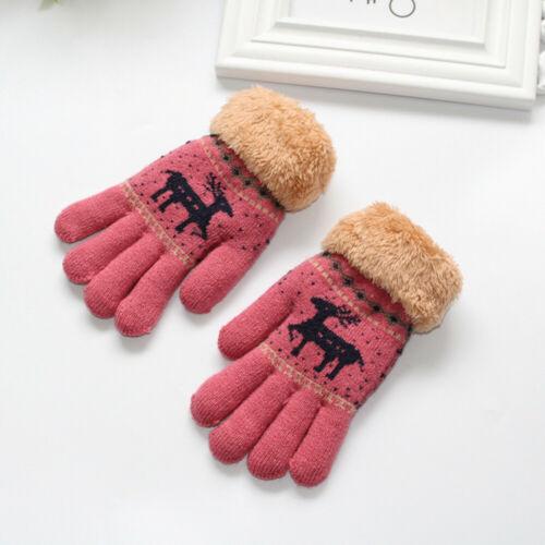 Toddler Kids Baby Outdoor Gloves Patchwork Girls Boys Keep Warm Mittens Gloves