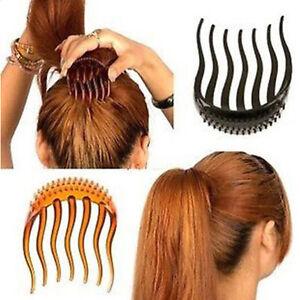 Ponytail-Inserts-Hair-Makeup-Clip-Bun-Maker-Bumpits-Bouffant-Volume-Comb-YH