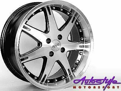 17 inch Evo ADR 1128 4-100 Narrow and  Wide Alloy Wheels - 4-100 pcd - sold as a set of 4