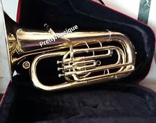 TUBA IN EB FLAT (NEW YEAR MODEL) MADE OF PURE BRASS IN BRASS POLISH + HARD CASE