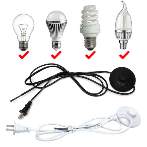 1.8m Line Cable 317 Dimmer Power Cord Button Switch US Plug Wire For Floor Lamp