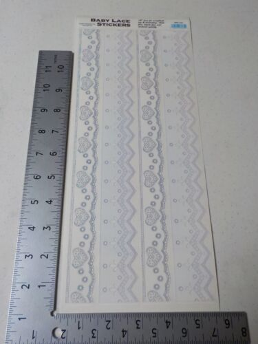 CREATIVE IMAGINATIONS BABY LACE BORDERS STICKERS SCRAPBOOKING NEW A2925